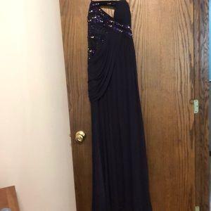 Purple long dress (WORN ONCE)